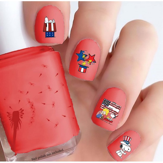 Peanuts 4th of July Nail Decals