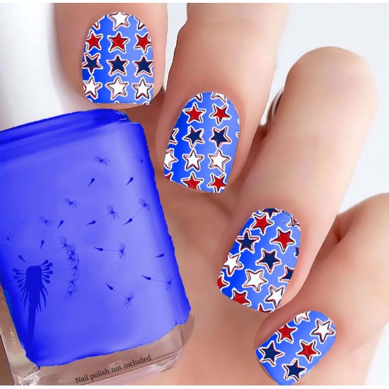 4th of July Stars Nail Decals