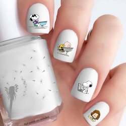 Peanuts Back to School Nail Decals