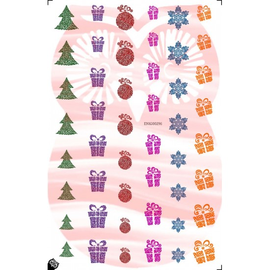 Abstract Christmas Nail Decals