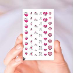 101 Dalmatians Valentine's Day Nail Decals