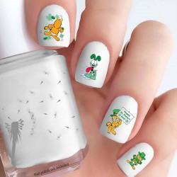 Garfield St Patrick's Day Nail Decals