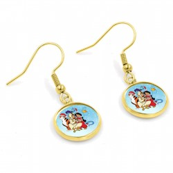 Aladdin & Jasmine Christmas Earrings