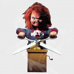 Child's Play Chucky Static Cling Decal