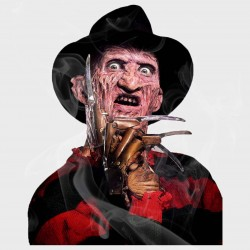Freddy Kruger Static Cling Decal