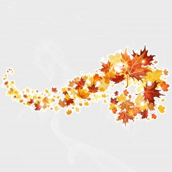 Autumn Leaves Swirl Right Vinyl Decal