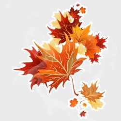 Autumn Leaves Falling Leaves Static Cling Decal
