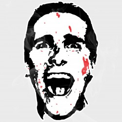 American Psycho Static Cling Decal