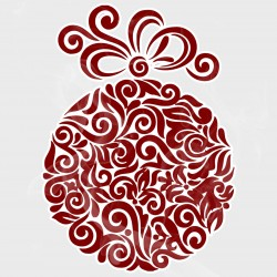Abstract Christmas Ornament Static Cling Decal