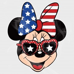 Disney Minnie 4th of July Head Static Cling Decal