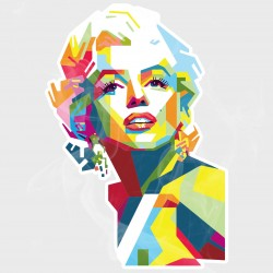 Abstract Marilyn Monroe Static Cling Decal