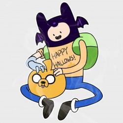Adventure Time Finn & Jake Halloween Vinyl Iron-On Decal